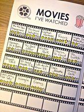 Verfolgen von Filmen, die Sie in Ihrem Bullet Journal gesehen haben