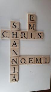 Scrabble – Wanddeko Natur groß 12×12 cm #flurdekoration Sie haben hier die Mög…