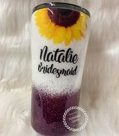 Sunflower Tumbler Wedding Tumbler Bridesmaid Tumbler | Etsy   – Gift Ideas