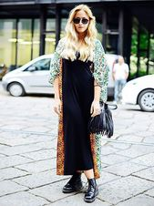Dr. Combine Martens boots properly: to the hippie dress #Women #Fashion