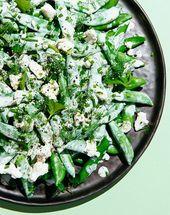 Salade de pois sucrés au ranch de la Chèvre   – Salad, Sauces, Dressings, Condiments, and Seasoning