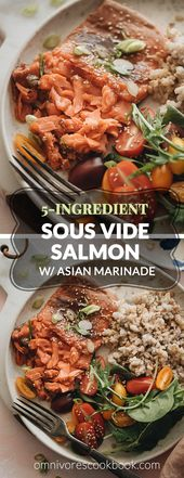 5-Ingredient Sous-Vide Salmon with Asian Sauce