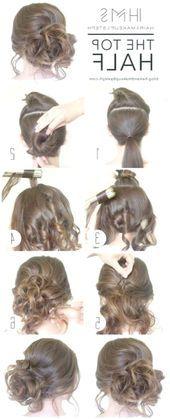 25> Coole und einfache DIY-Frisuren Die obere Hälfte Schnelle und einfache Ideen f