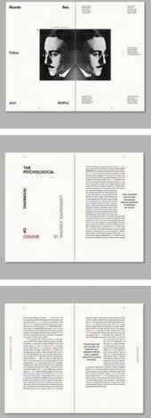 68 diseños de libros de revistas de tipografía de diseño moderno   – Layouts