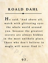 Roald Dahl Digital Print On the spot Obtain with Distressed Previous E-book Web page Background