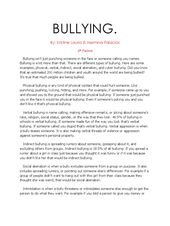 Research Paper About Bullying In 2020 Writing A Term Informative Essay Competition Effect Of Pdf