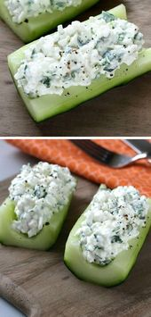 Cucumber Boats  30 Healthy After School Snacks for Kids  Quick and Easy After Sc…