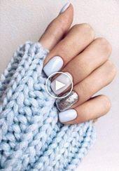 44 Trendy lange natuurlijke nagels Stiletto # Nagels #Natuur #AcrylicNagels