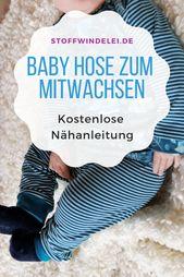 Gratis Schnittmuster & Nähanleitung: Mitwachshose 50 / 56-62 / 68-74 / 80-86 / 92   – Schnittmuster Baby- und Kinderkleidung