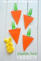 Plastic Fork Carrots – Kid Craft