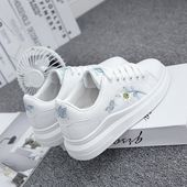 Women casual shoes women sneakers breathable pu leather platform white women shoes soft footwears embroidery