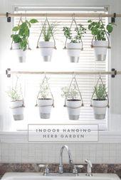 Wie man einen hängenden Kräutergarten selbst mac…
