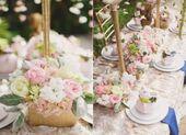 Garden party bridal shower centerpieces 40 trendy ideas