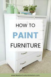So malen Sie Holzmöbel – ohne Pinselstriche!