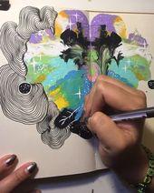 """fleischige Blume: """"Hier sind einige therapeutische Kringel in meinem Skizzenbuch! Das ist"""