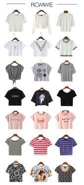 Basic Pieces für Damen – Crop Tops für den Sommer. Weiße Crop-Tops sind ein Muss, bla… – io.net/style