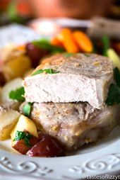 A simple garlic mustard sauce makes this potato pork chop bake a simple Whole30 …