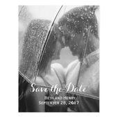 Elegant Photo Save the Date Postcard | Zazzle.com