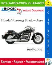 Honda Vt1100c3 Shadow Aero Motorcycle Service Repair Manual 1998 2002 Download In 2021 Repair Manuals Honda Honda Shadow