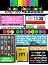 Visible Schedules for Autism and Particular Training Lecture rooms