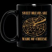 Pizza-Liebhaber-Hemd Süße Träume werden vom Käse-Pizza-Schwarz-Becher gemacht