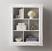 Extra Large Vintage Hand Carved Display Shelf Antique White Diy Display Shelf Home Decor Decor