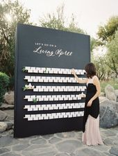 What's Black, White, and Trendy Stylish? This Palm Springs Wedding ceremony.
