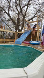 Above Ground Pool Slide