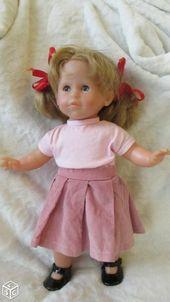 Jupe plissée et poupée t-shirt rose Corolle 36 cm – poupées faites à la main …   – Jupes