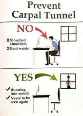 Best Way To Prevent Carpal Tunnel Syndrome Realfunny Carpal Tunnel Funny Memes Carpal Tunnel Syndrome