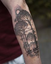 Praca na bliźnie # blacktattoo # tattoodesign # tattooblack # blackworktattoo # onlythe …