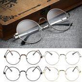 Vintage Gold Oval Eyeglass Frame Man Women Plain Glass Clear Full-Rim Spectacleseosegal – Men Eyewear Frames