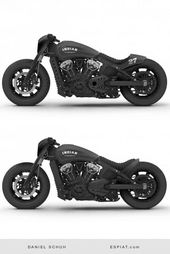 Coole Indian Scout Bobber Umbauideen mit Caferacer Heck oder Ducktail.   – Biwheel