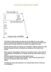 Tuto jupe trapèze extremely easy – L'atelier d'Aurélie