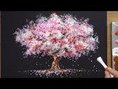 How To Draw A Cherry Tree In Acrylic – Sakura …