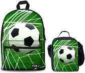 Great for HUGS IDEA 3D Soccer Backpack Set Lightweight Canvas School Bag with Th… – Fashion luggage