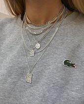 Jewelery Jewelery Jewelery Necklaces Necklaces Silver chain Silver chain | Lacost …
