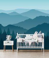 Fond d'écran amovible auto adhésif papier peint montagne vue murale Peel & Stick papier peint chambre d'enfant papier peint papier peint murale