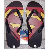 DC Comics SUPERMAN Logo Men's FLIP-FLOP Sandals – Size Extra Large (XL), #Co…
