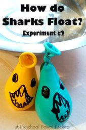 Awesome science experiment showing how sharks float! This science project is per... 2