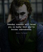 Eines Tages wird dich jemand so sehr brechen, dass du unzerbrechlich wirst. via (ift …. – Earnestine