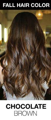 Reiche, schokoladenbraune Haarfarbe! Die perfekte Haarfarbe für Winter oder Herbst. #Ha…   – Hair Color