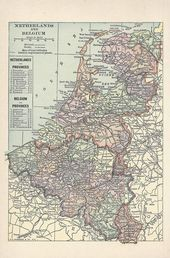 Antike Karte Von 1926 Niederlande Karte Belgien Karte Original
