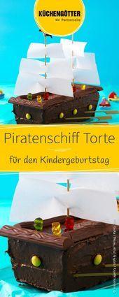 Piratenschiff Kuchen – Rezeptideen Kinder – #Kinder #Kuchen #Piratenschiff #Re …   – Einfach Torten Rezepte