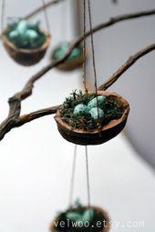 Satz von Vogel Nest Ornamente Weihnachtsbaum, Vogel Eier, Wald Urlaub Dekor, Dekoration Tischplatte Display, Strumpf Stuffer hängen Ornament