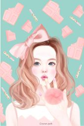 8e41d66662d314b52965adf0cb355d8f  art paintings girly - #enakei