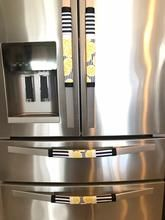 Keep Your Kitchen Appliance Handle Clean Refrigerator Door Kitchen Appliance Handle Covers Dark Red,Burgundy