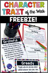 Character Trait of the Week FREE ACTIVITIES