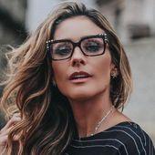 Fashion Eyewear Frames Optical Myopia Clear Lens Glasses Frame Female Diamond Sq… – Accessories