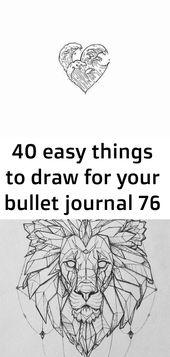 40 einfache Dinge, die Sie für Ihr Aufzählungszeichen zeichnen können 76